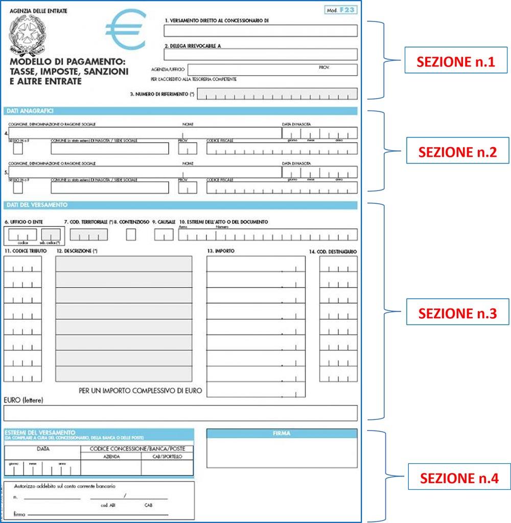 SCARICARE AGENZIA DELLE ENTRATE MODELLO F23 DA