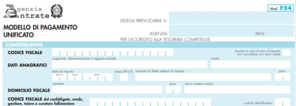 Modello F24 Elide Istruzioni Per La Compilazione Per Imposta Registro