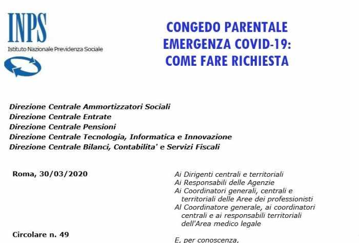 congedo parentale emergenza covid-19